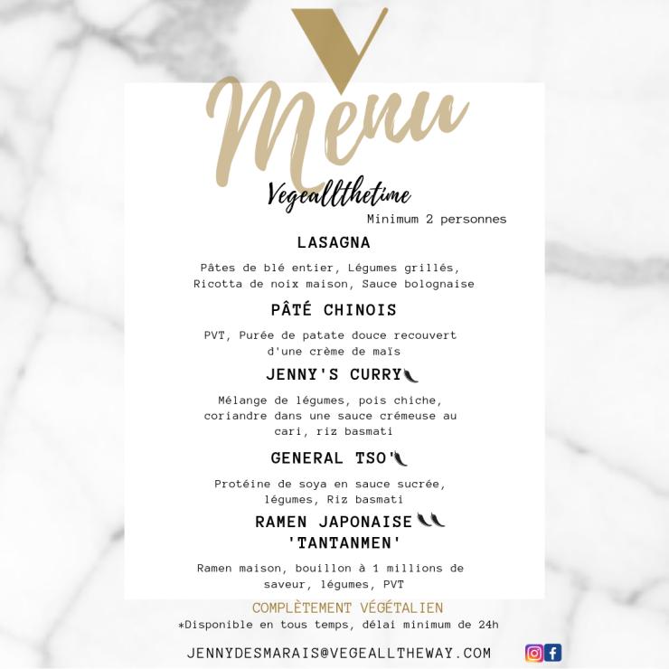menu vegeallthetime insta