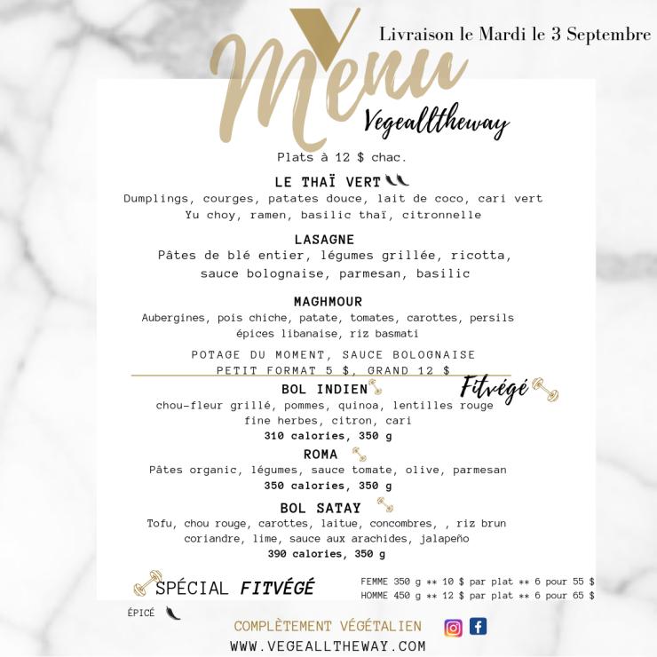 menu 29 aout