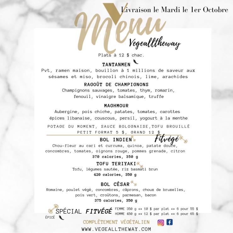 menu 26 septembre