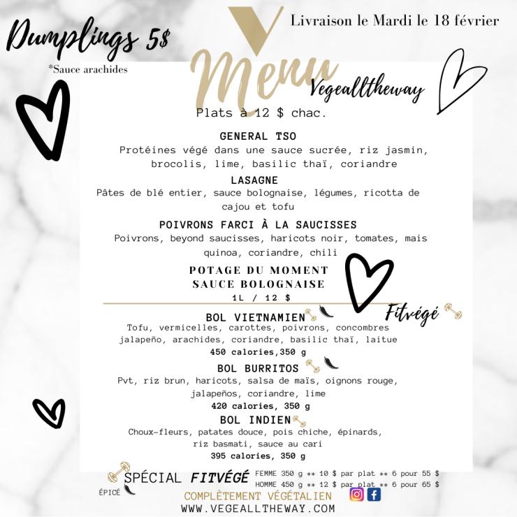 menu 13 février